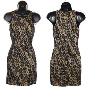 FOREVER 21 Bodycon Dress Party Mini Lace Overlay